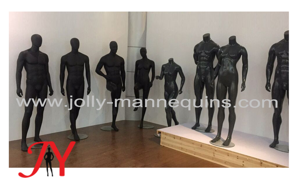 male mannequins-black color and glossy black color