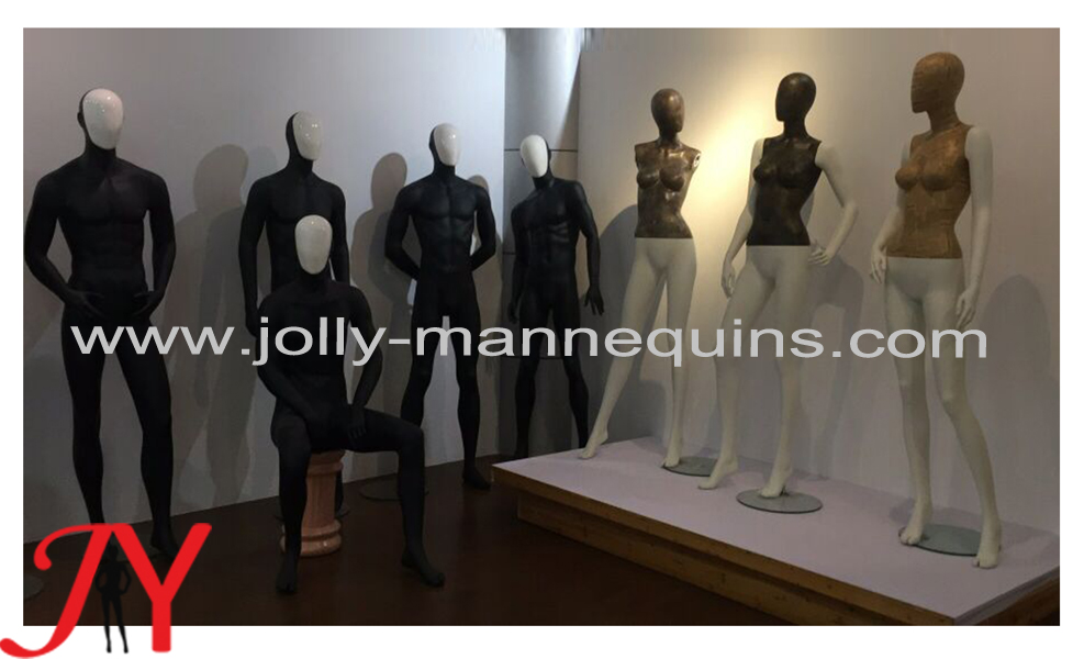male mannequins with change head-black color