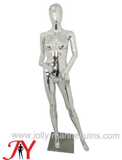Jolly mannequins-Plastic chrome female mannequins-SF-12