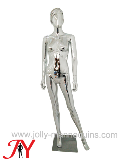 Jolly mannequins-Plastic chrome female mannequins-SF-11