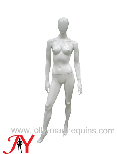 Jolly mannequins- Bespoke straight arms classic pose female egghead mannequin white glossy painted JY-CS0101