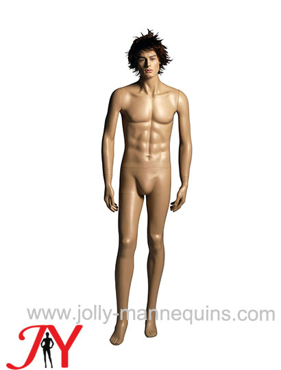 Jolly mannequins-Caucasian man gender realistic male mannequin with makeup, wig-JY-074