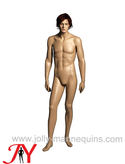 Jolly mannequins-Caucasian man gender realistic male mannequin with makeup, wig-JY-071