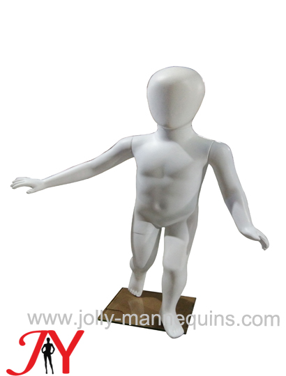 Jolly mannequins-plastic baby egghead mannequin with white color-JC-1
