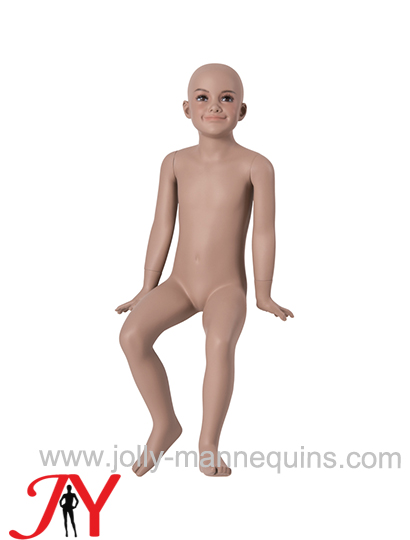 Jolly mannequins-Dummy sitting child 5/6 years FRP child mannequin with makeup B-100