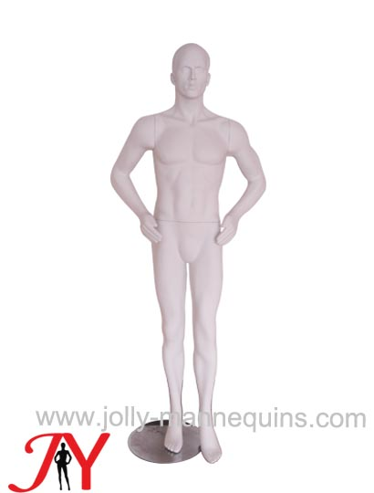 realistic male mannequin with matte color-JYALM03