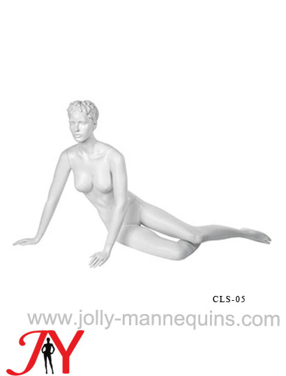 realistic female mannequin with white matte get on her stomach-CLS05