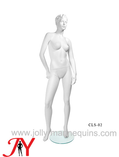 Jolly mannequins-realistic female mannequin with white matte color sculpture hair-CLS02