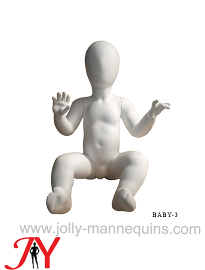 Jolly mannequins-egghead child mannequin with white matte color-JY-BABY-3