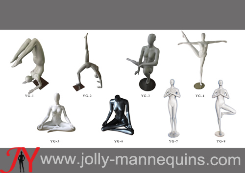 Jolly mannequins-Fashionable fiberglass female mannequins,YOGA mannequins collection ,sports mannequins for display