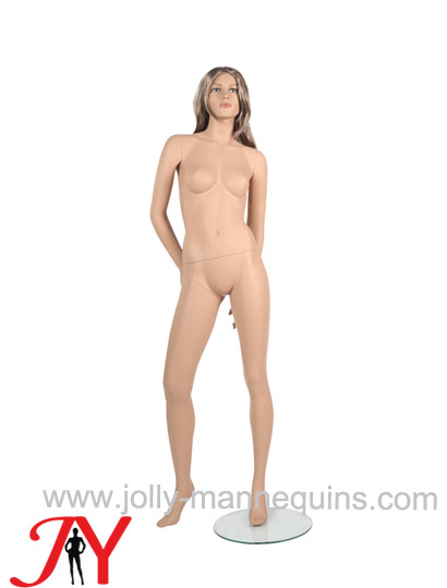 Jolly mannequins-Realistic female mannequin with skin color makeup JY-CE511