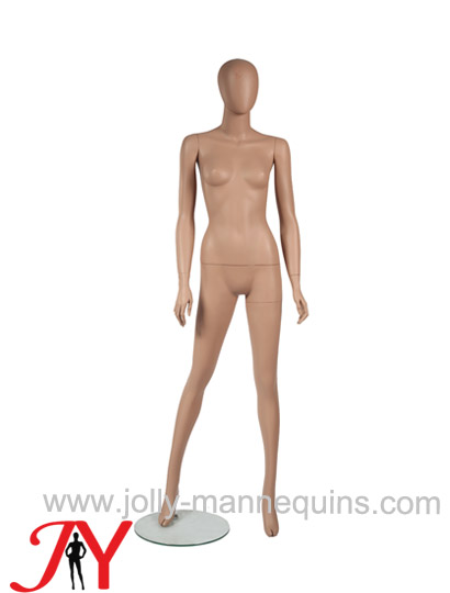 Jolly mannequins fibreglass female mannequin with realistic hands and fingers flesh tone skin color JY-RPF02