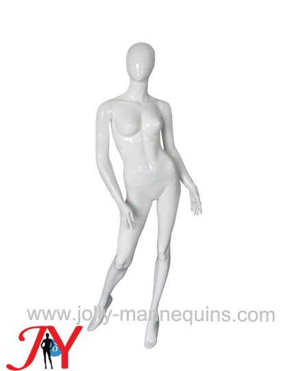Jolly mannequins-  sexy pose female egghead mannequin white glossy painted JY-ARU15