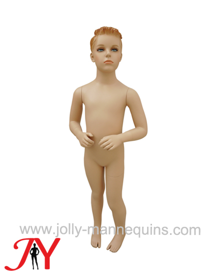 Jolly mannequins 2-3 years skin color Make up realistic little boy child mannequin JY-K102