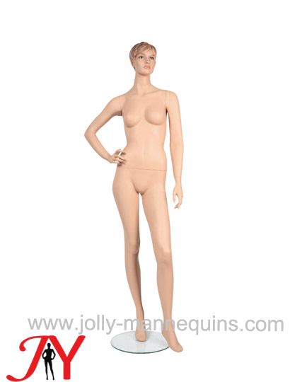 Jolly mannequins make up skin color realistic female mannequin right arm bended JY-FAF1462
