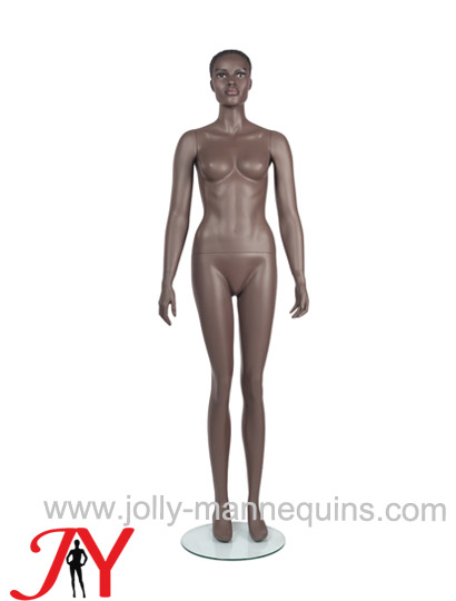 Jolly mannequins brown color realistic female mannequin straight arms straight legs JY-PHF1