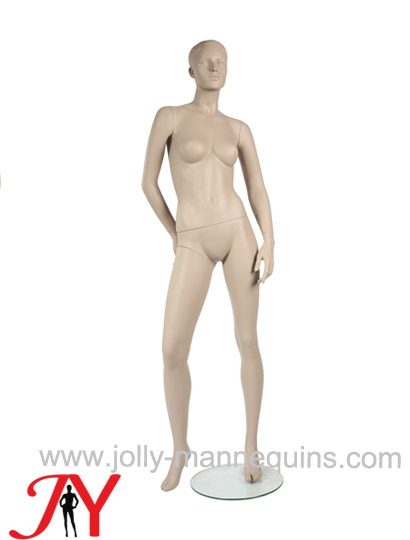 Jolly mannequins classic skin color realistic female mannequin right leg leaning pose JY-F103C