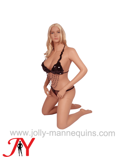 Jolly mannequins realistic sexy skin color kneeling female mannequin JY-SY21