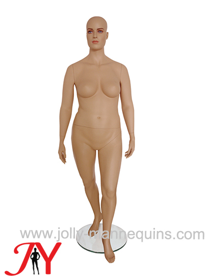 Jolly mannequins plus size skin color female mannequin straight arms JY-FT7