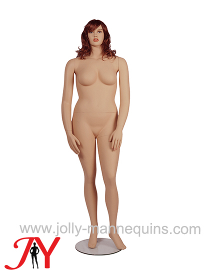 Jolly mannequins female plus size manenquin with makeup skin color long wig JY-FT1