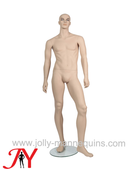Jolly mannequins classic skin color realistic make up male mannequin straight arms JY-CM15