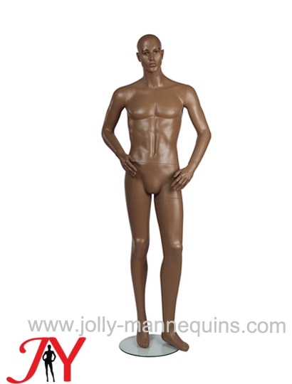 Jolly mannequins brown color realistic make up male mannequin JY-EMM1