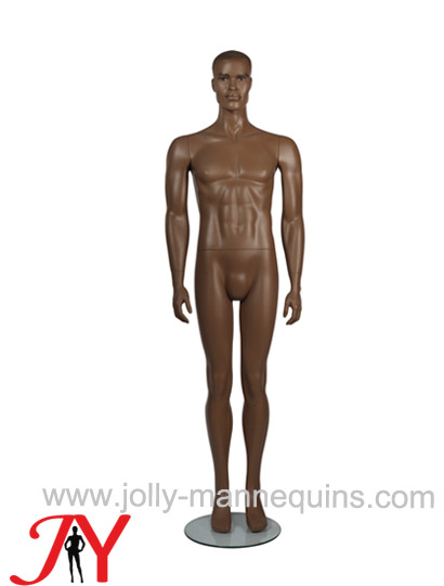 Jolly mannequins classic brown color realistic make up male mannequin straight arms straight legs JY-PHM1
