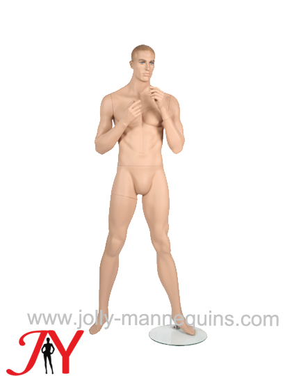 Jolly mannequins window display realistic full body male mannequin wide open legs JY-MA14