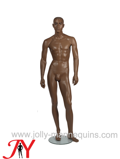 Jolly mannequins classic brown color realistic male mannequin straight arms JY-MHE