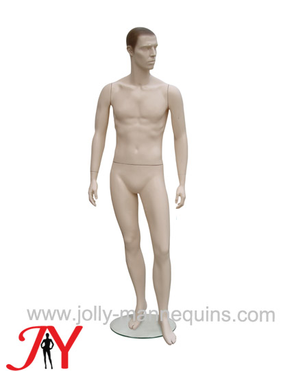 Jolly mannequins sculpture hair skin color realistic male mannequin straight arms JY-CNM2