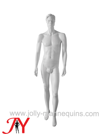 Jolly mannequins sculpture hair white color realistic male mannequin JY-M71