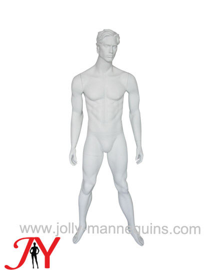 Jolly mannequins white color realistic male mannequin straight arms wide open legs JY-MA27
