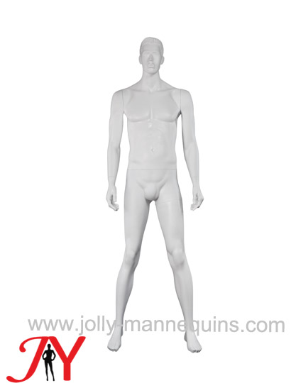 Jolly mannequins sculpture hair white color realistic male mannequin straight arms wide open legs JY-SU050