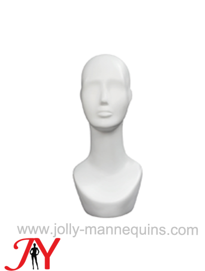 Jolly mannequins white color abstract mannequin display head JY-H001