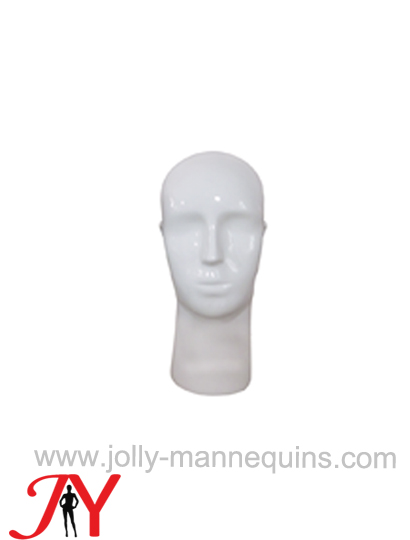 Jolly mannequins white glossy color mannequin display head HM-2H