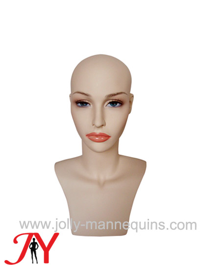 Jolly mannequins make up skin color mannequin display head HD-X