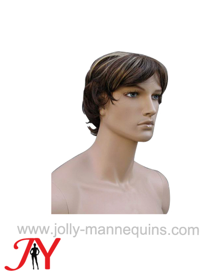 Jolly mannequins male brown color short hair wig WIG-116