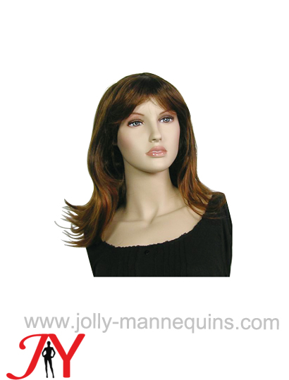 Jolly mannequins female brown color hair wig WIG-161