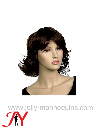 Jolly mannequins female brown color short hair wig WIG-230