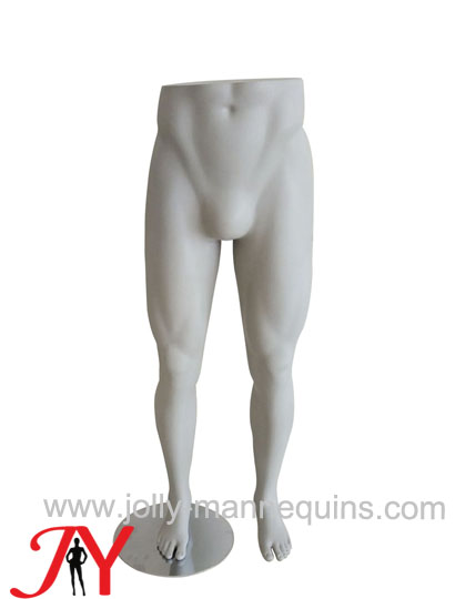Jolly mannequins-male sport leg form with cenment effect surface finish paint-LULU-LM01