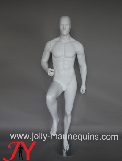 Jolly mannequins- European style abstract male sport mannequin with playing football(soccer) movement pose  MOS-01BSAH