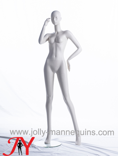 Jolly mannequins-white matte color abstract head female mannequin-Alessia107
