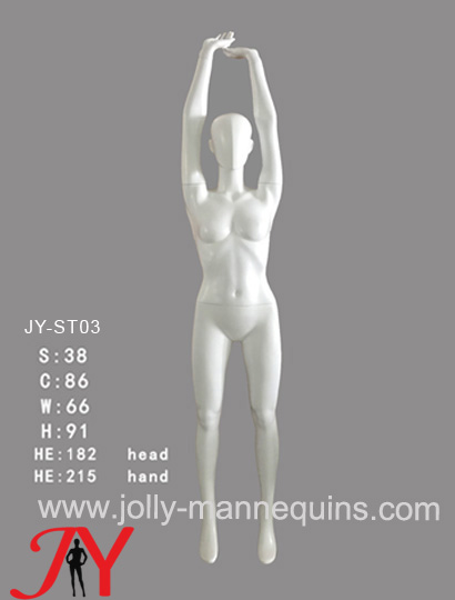 Jolly Mannequins- China mannequins factory female athlete sport stretching shoulder overhead stretching mannequin JY-ST03