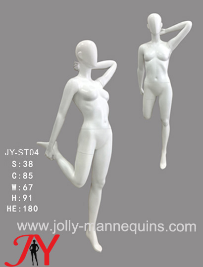 Jolly Mannequins- China mannequins factory female athlete sport stretching mannequin JY-ST04