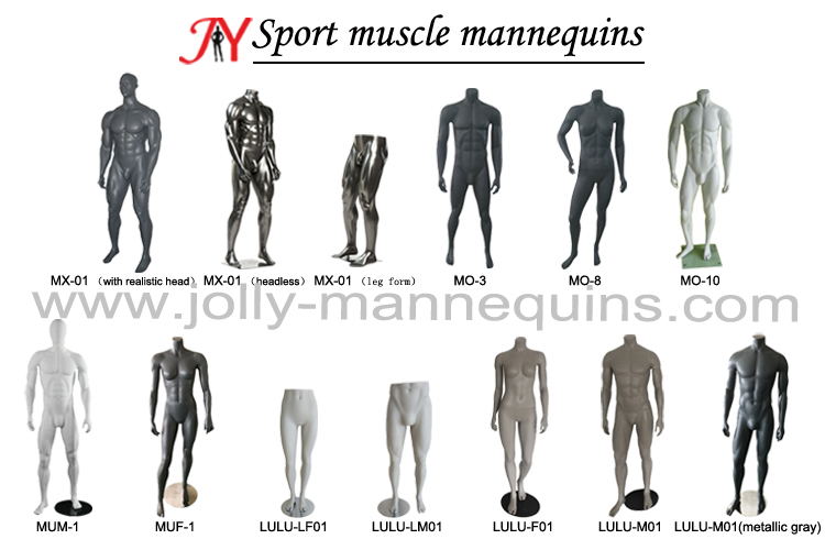 Jolly mannequins- sexy fiberglass big muscle mannequins collection ,sports mannequins for display