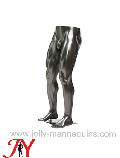 Jolly mannequins-Metallic silver strong muscle male leg form MX-01 leg form