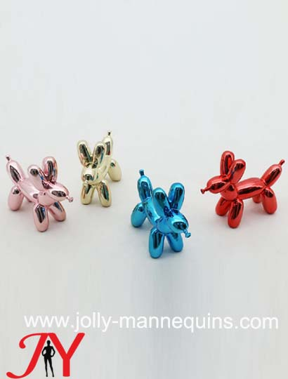 Jolly mannequins- Chromed small machine dog mannequins for fashion store 1003