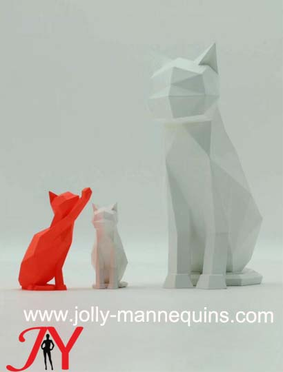 Jolly mannequins- new type hot sale animal mannequin lovely cat manenquin for window display 4001