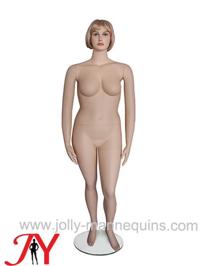 Jolly mannequins-plus size realistic female manenquin with makeup FT-3
