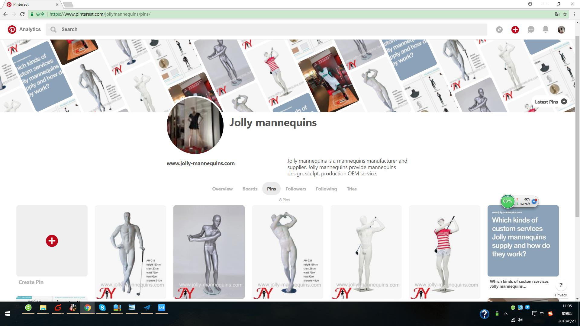 Jolly mannequins-pinterest account is launched